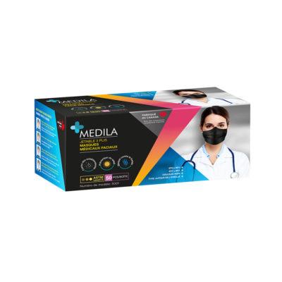 MEDILA Black medical masks
